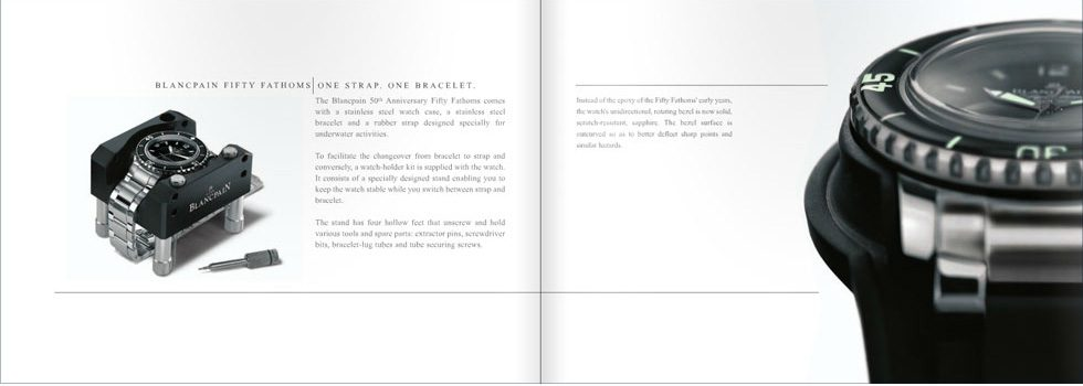 Art Direction of BLANCPAIN Watches Catalogue