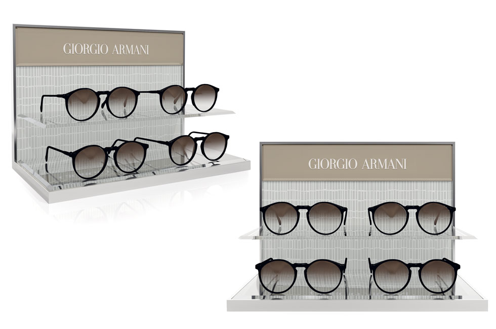 GIORGIO ARMANI 4 PIECES DISPLAY
