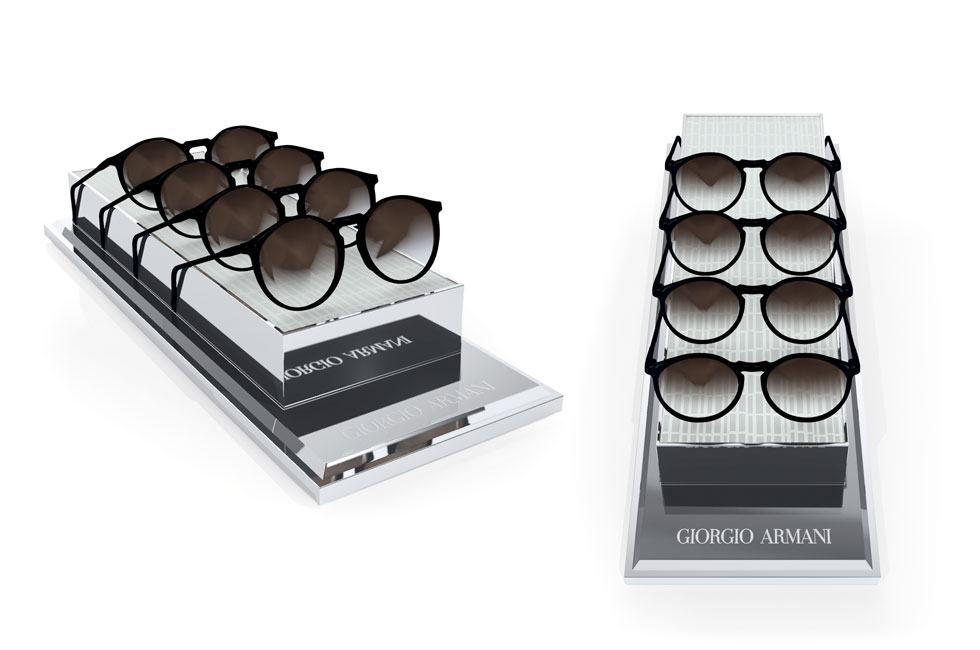 GIORGIO ARMANI 4 PIECES TRAY DISPLAY
