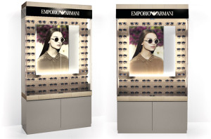 EMPORIO ARMANI LARGE BACKWALL DISPLAY