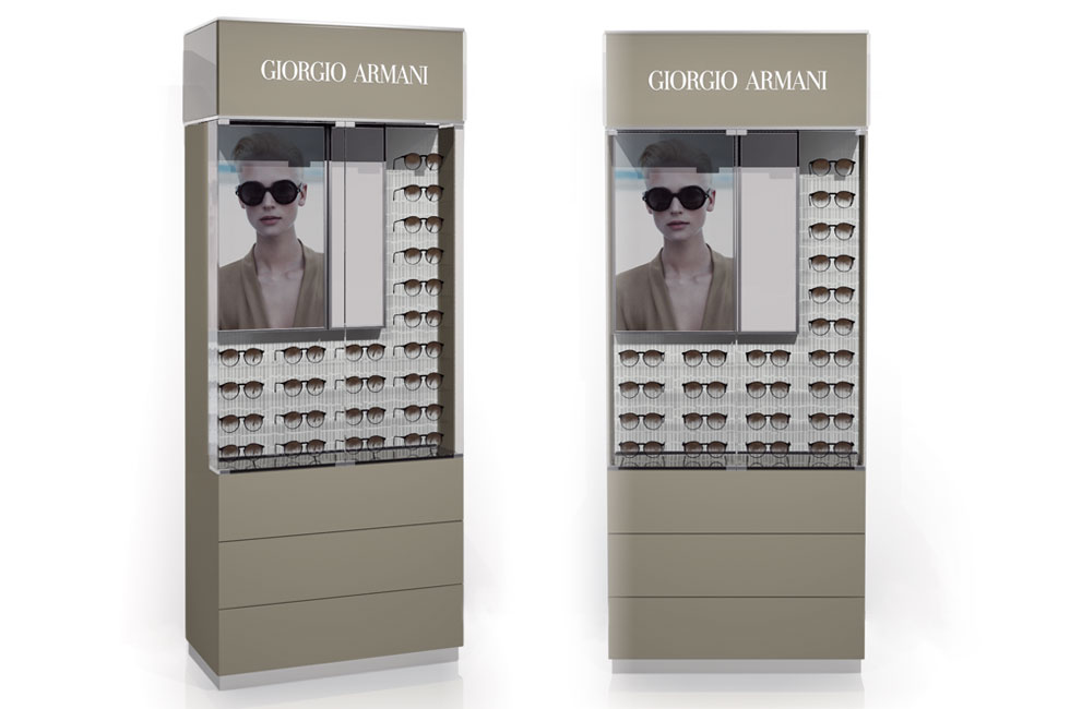 GIORGIO ARMANI BACKWALL DISPLAY SMALL