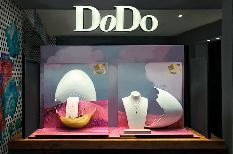 Dodo Jewels 25 anniversary shop window animation