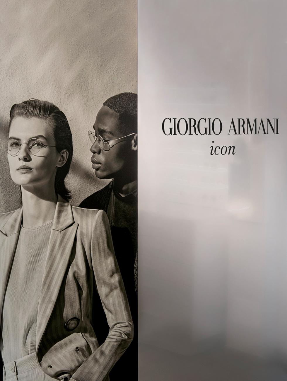 Giorgio Armani Icon Eyewear Shop Windows